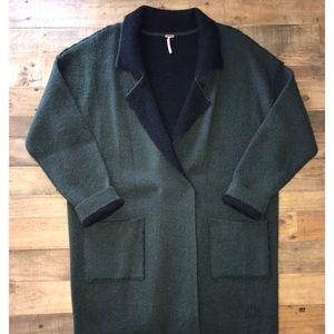 Free People Wool Blend Sweater Jacket